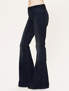 flare jean pull on