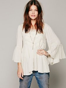 white flowy embroidered blouse